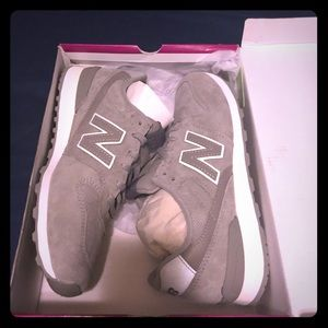 NEW. New Balance 696 Grey Suede Shoes